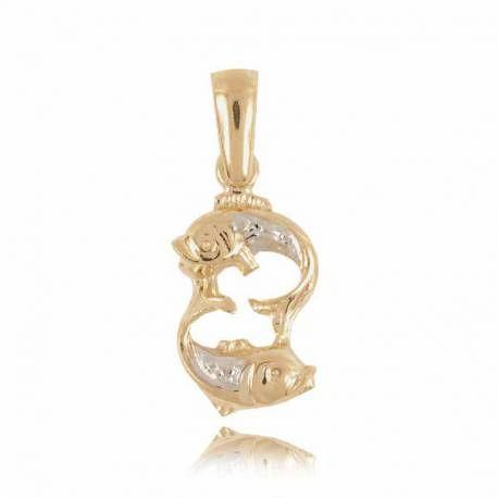 Złoty znak zodiaku Z2 RYBY
