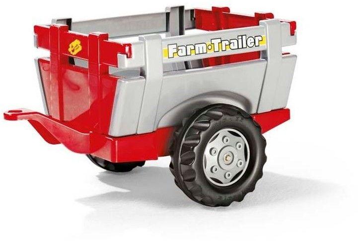 Rolly Toys rollyTrailer Przyczepka do traktora Otwierane Burty