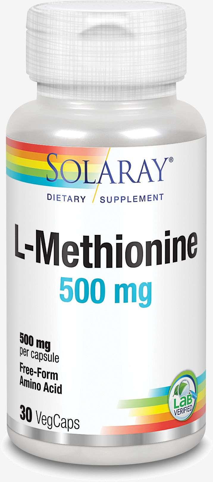 Solaray L-metionina 500 Mg 30 kaps