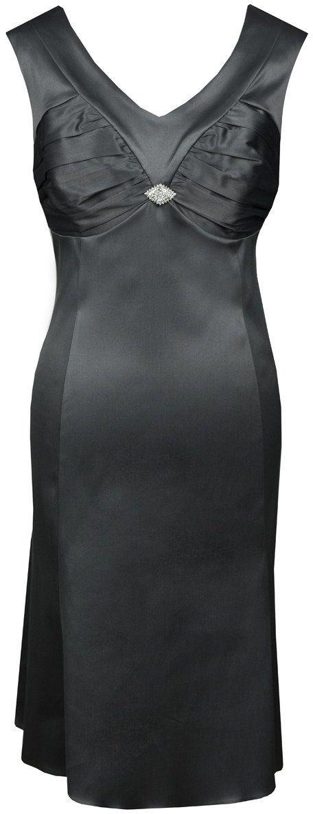 Sukienka FSU659 SZARY