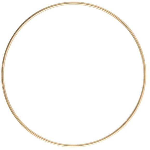 Koło do łapacza snów metalowe złote 20cm łapacz20-złoty