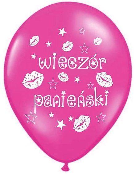 Różowy balony na Wieczór Panieński 50 sztuk SB14M-240-006-50x