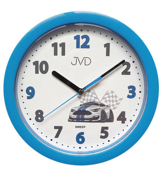 Zegar ścienny JVD HP612.D5 Cichy mechanizm - odcienie niebieskiego
