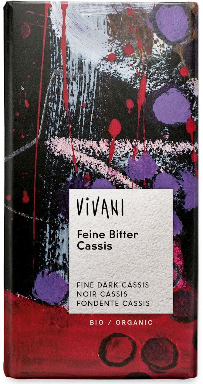 Czekolada gorzka z nadzieniem o smaku czarnej porzeczki BIO - Vivani - 100g