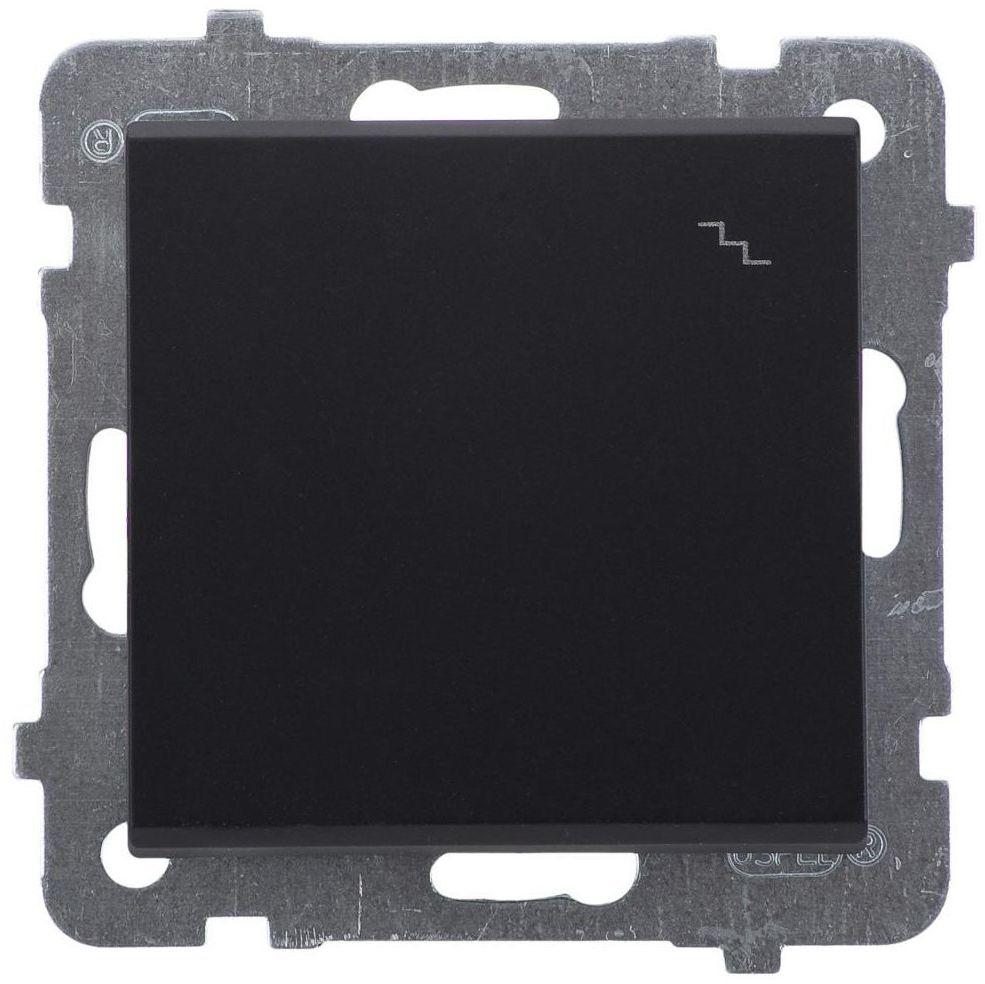 Włącznik pojedynczy schodowy SONATA Czarny OSPEL