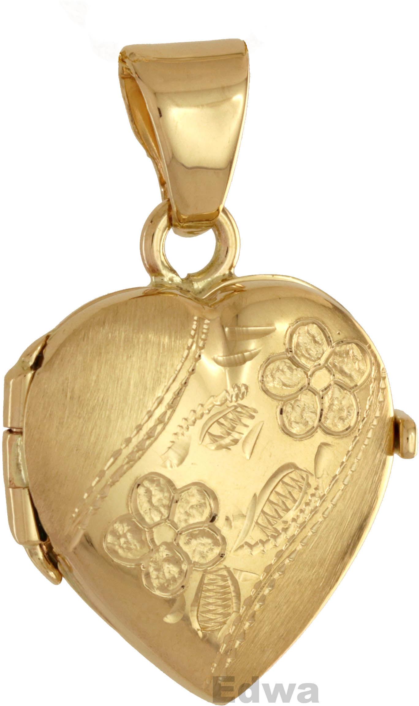 Zawieszka złota Medalion Serce pr.585
