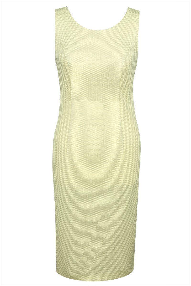 Sukienka FSU487 ŻÓŁTY JASNY
