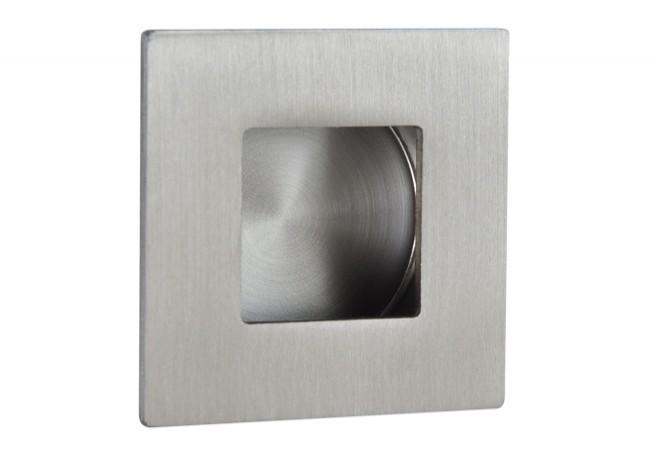 Uchwyt do drzwi przesuwnych wpuszczany kwadratowy FH213 (50x50 mm), stal nierdzewna