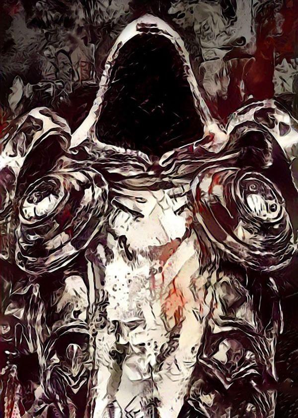Legends of bedlam - tyrael, diablo - plakat wymiar do wyboru: 21x29,7 cm