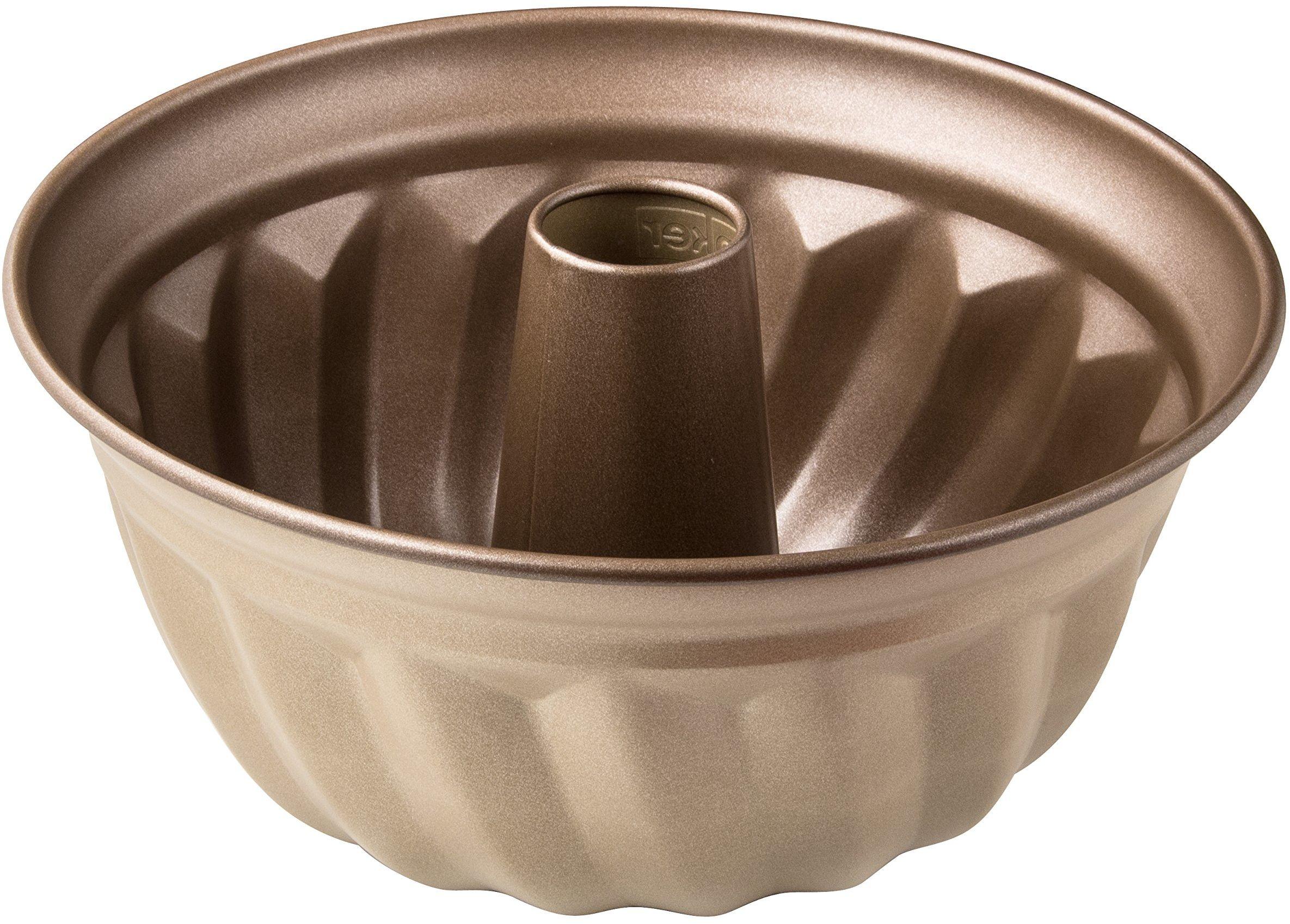 Zenker MOJAVE GOLD forma do pieczenia z blachy stalowej, forma do ciasta z wzmocnioną ceramiczną powłoką zapobiegającą przywieraniu (kolor: mahoń/złoty), ilość: 1 sztuka