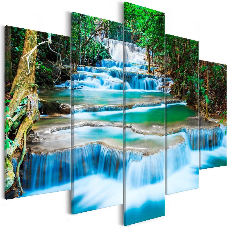 Obraz - wodospad w kanchanaburi (5-częściowy) szeroki