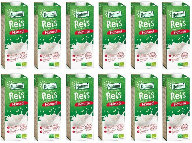 Napój Ryżowy Bez Dodatku Cukru 12x1L - Natumi
