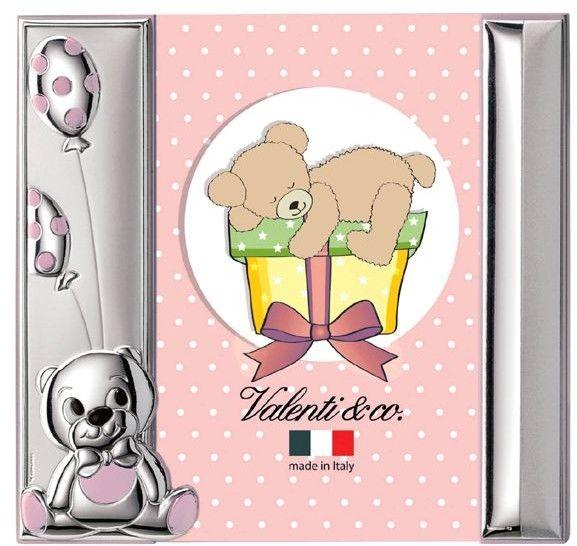 Ramka z Misiem Rozmiar: 10x15 cm Kolor: Różowy SKU: V10472/3XLR