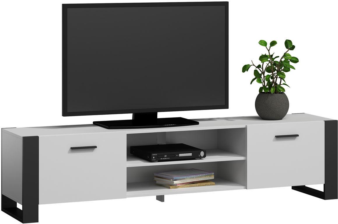 Biała nowoczesna szafka RTV - Berno