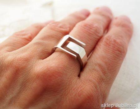 Allmost - srebrny sygnet pierścień unisex