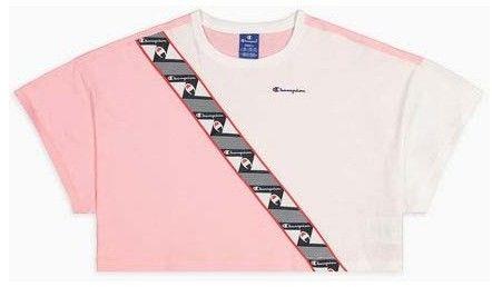 Tshirt CHAMPION - Colour Block Jacquard Logo Tape Cropped T-Shirt (PS024