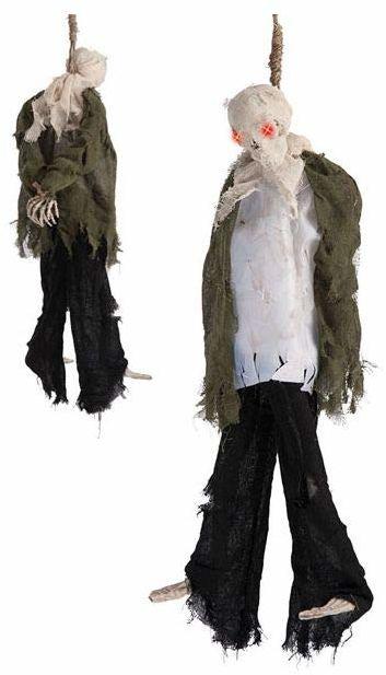 Carnival Toys 8523  Wisząca mumia ze świecącymi oczami, bateria nie jest dołączona, gra, 90 cm