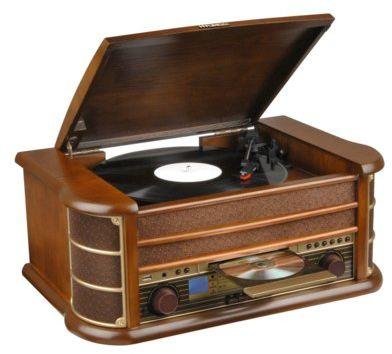 Gramofon HYUNDAI RTC-513RIP Brązowy Dogodne raty! DARMOWY TRANSPORT!