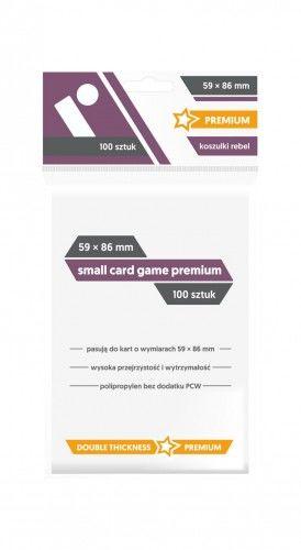 "Koszulki na karty Rebel (59x86 mm) ""Small Card Game Premium"" 100 sztuk"