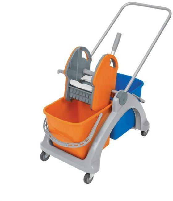 Wózek do sprzątania dwuwiadrowy TS-0002 Splast, pomarańczowo-niebieski