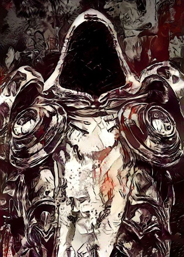 Legends of bedlam - tyrael, diablo - plakat wymiar do wyboru: 42x59,4 cm