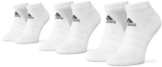 adidas Zestaw 3 par stopek unisex Cush Low 3Pp DZ9384 Biały