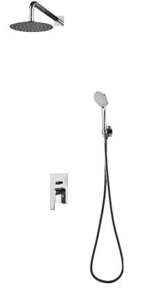Omnires Astoria zestaw podtynkowy prysznicowy chrom SYSAS10CR