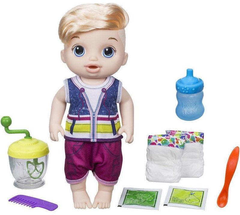 Baby Alive Lala słodka przekąska Chłopiec blondyn E0635
