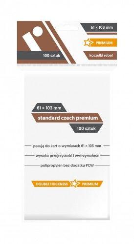 "Koszulki na karty Rebel (61x103 mm) ""Standard Czech Premium"", 100 sztuk"