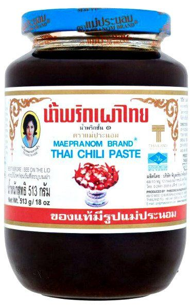 Pasta Nam Prik Pao, chili z krewetkami 513g - Mae Pranom