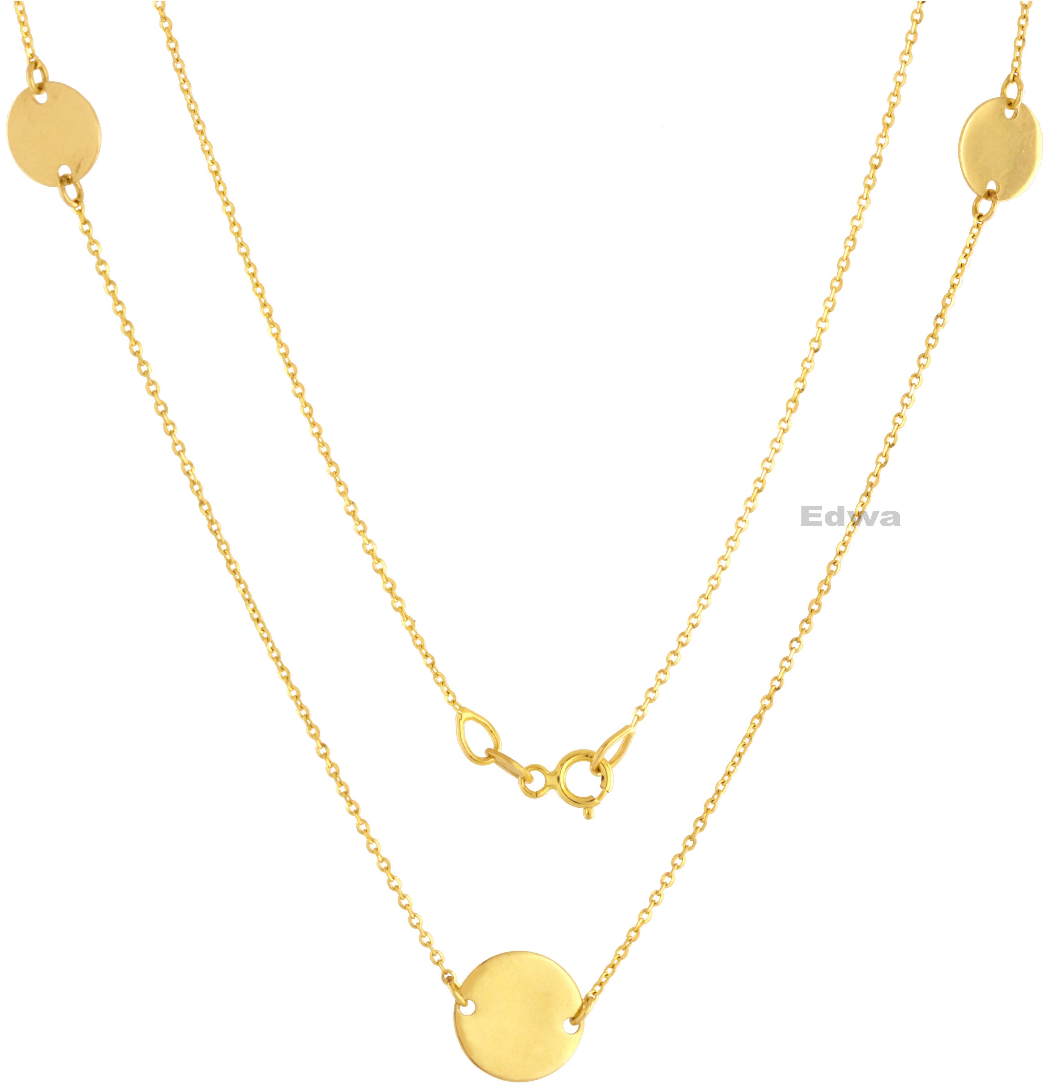 Łańcuszek złoty celebrytka z zawieszkami pr.585