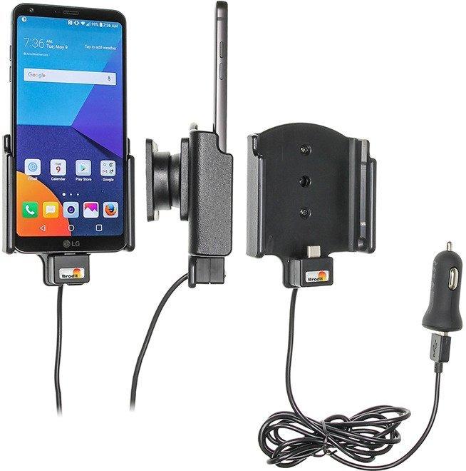 Uchwyt do LG G6 z wbudowanym kablem USB oraz ładowarką samochodową