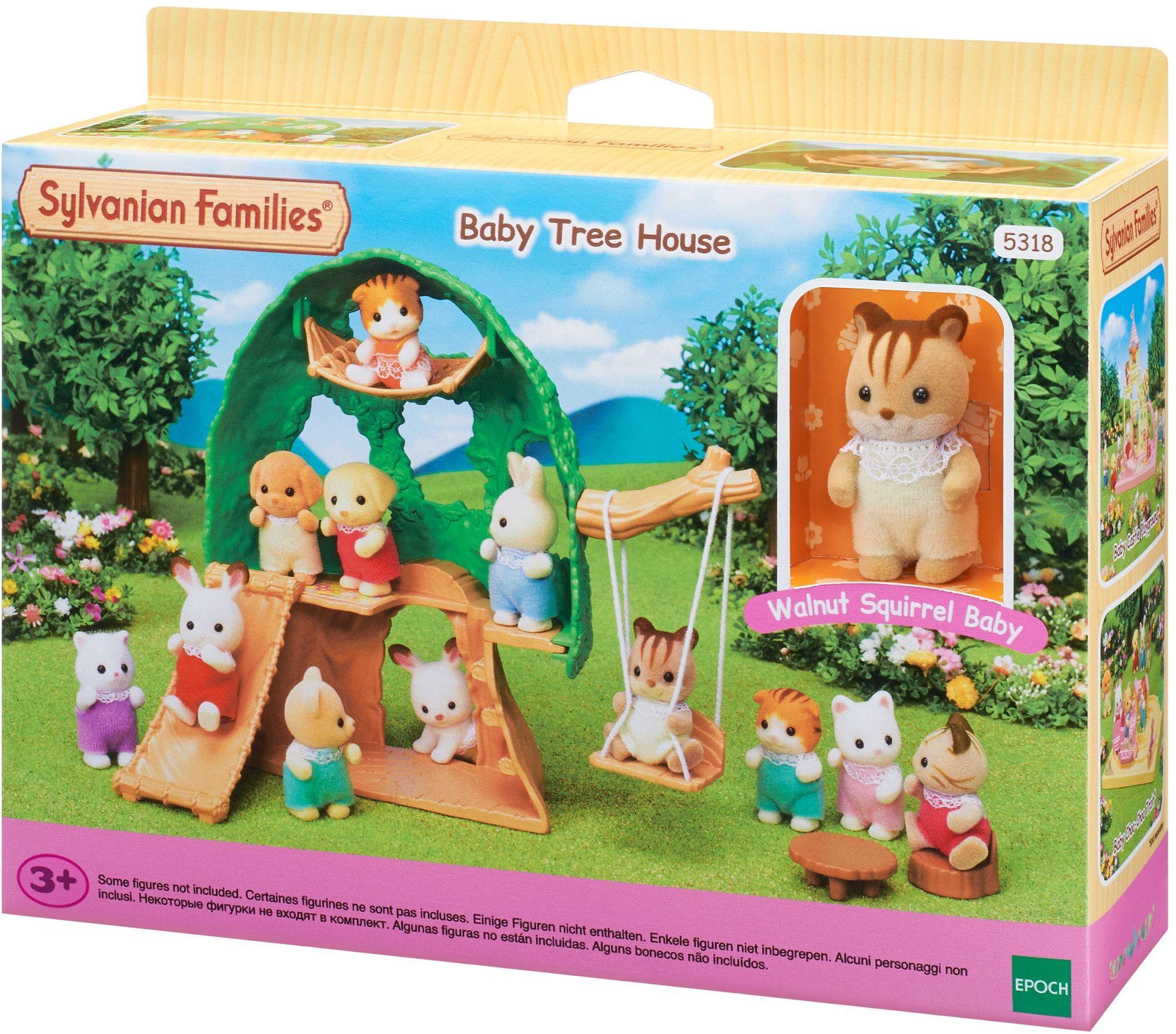 Sylvanian Families 5318 Baby Abenteuer domek na drzewie - domek dla lalek zestaw do zabawy