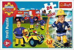 Trefl Dzielny Strażak Sam Puzzle 24 Maxi o Wysokiej Jakości Nadruku dla Dzieci od 3 lat