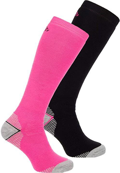 McKINLEY Rob rajstopy męskie, 2 sztuki różowy Pink/Black Night 36-38