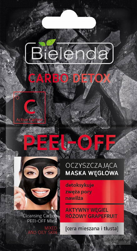 Bielenda - Carbo Detox - Cleansing Carbon Pell Off Mask - Oczyszczająca Maska Węglowa typu Peel Off - 2 x 6g
