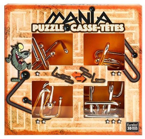 Łamigłowki metalowe 4 sztuki Puzzle-mania zestaw pomarańczowy ZAKŁADKA DO KSIĄŻEK GRATIS DO KAŻDEGO ZAMÓWIENIA