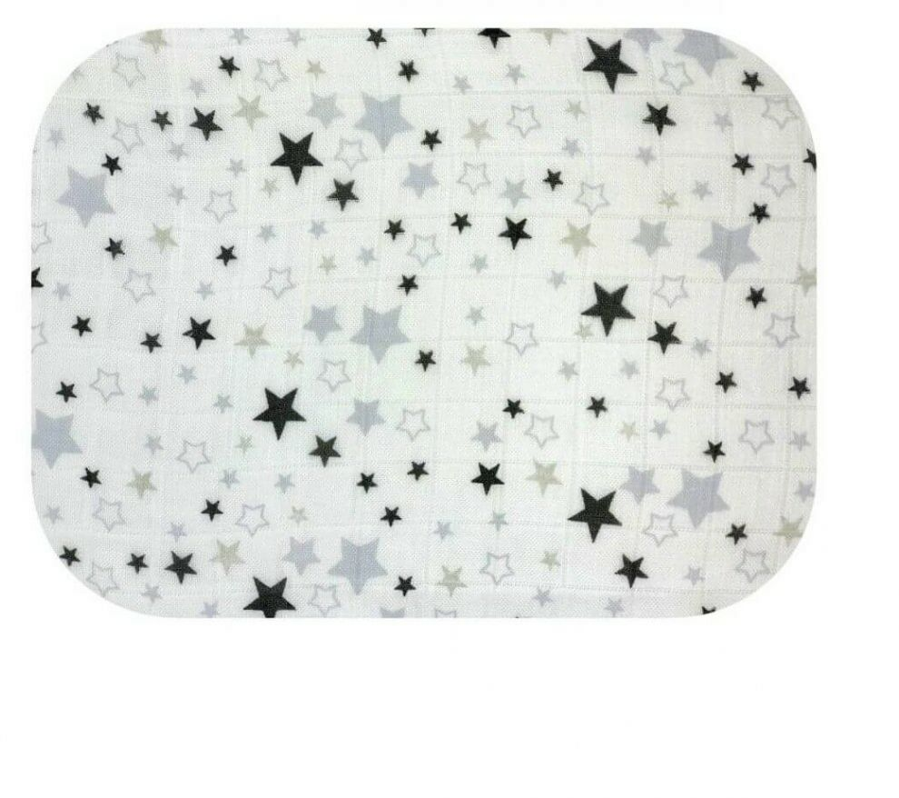 Pielucha Bambusowa Gwiazdy Szare 120x120