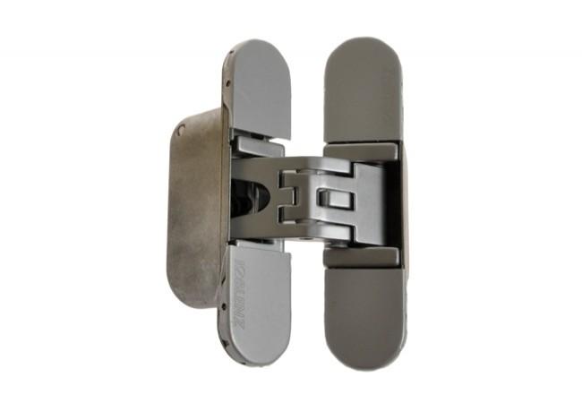Zawias NIEWIDOCZNY KOBLENZ K6200 znal 95 mm uniwersalny CS chrom satyna, bez wkrętów.