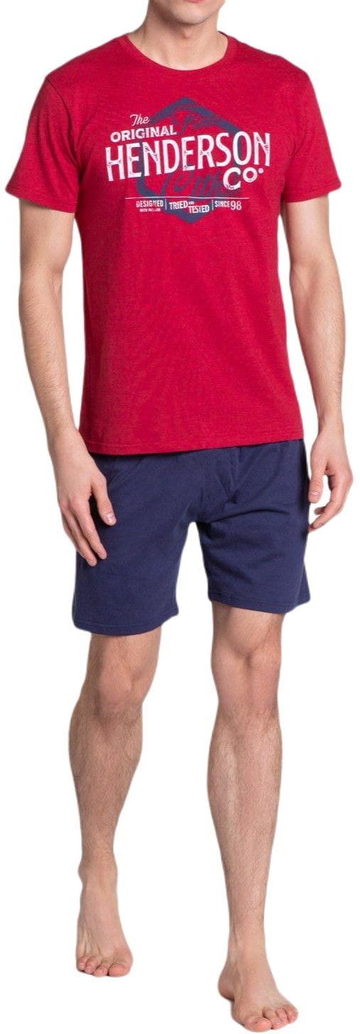 Bawełniana piżama męska Henderson 38869 Lars czerwona