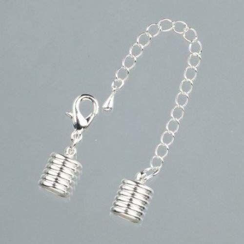 EFCO zaślepki rowki z łańcuchem, złote, 10 P, metalowe, srebrne, 8 mm