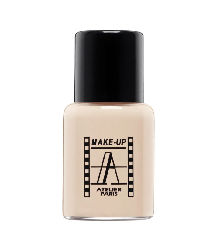 Make-Up Atelier Paris - Waterproof Liquid Foundation - Fluid / Podkład WODOODPORNY - 5ml - 5FLW1B - PALE BEIGE