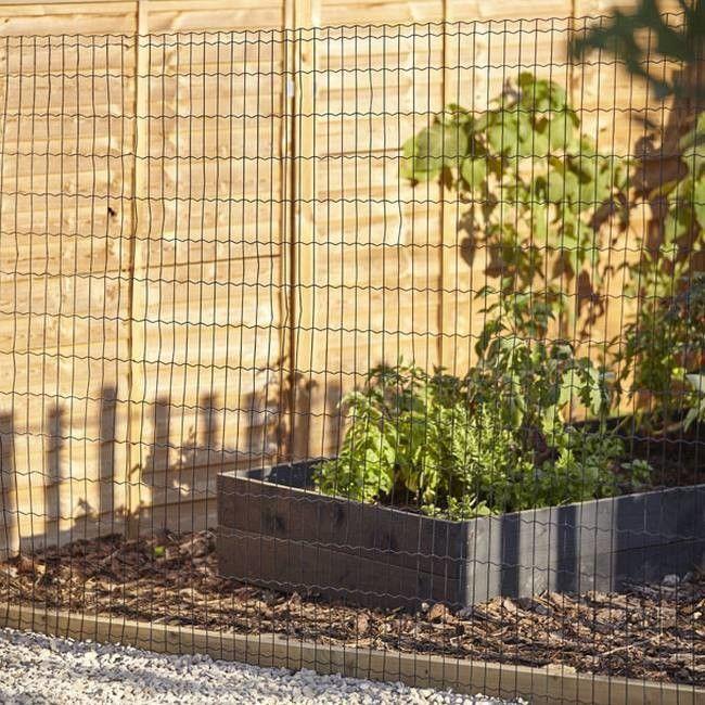 Siatka ogrodzeniowa zgrzewana Blooma 1 x 10 m oczko 100 x 75 mm zielona