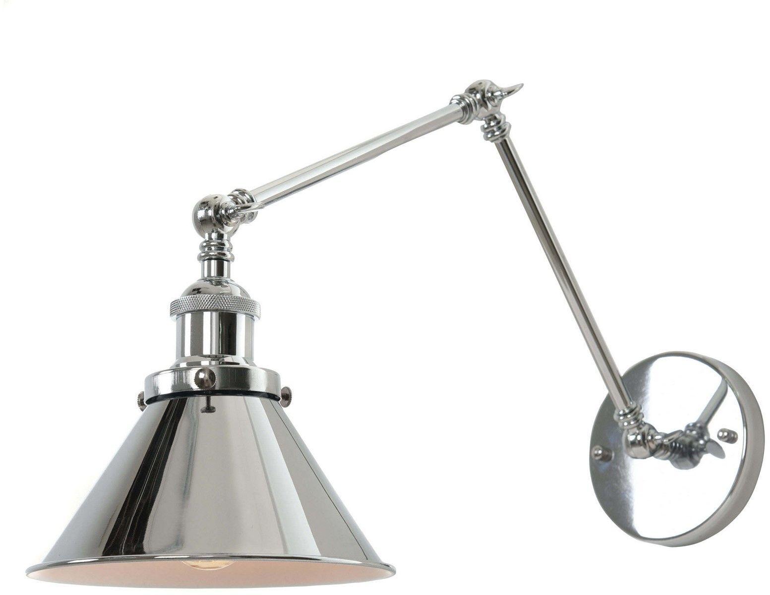 LAMPA ŚCIENNA KINKIET LOFTOWY CHROMOWANY GUBI W2