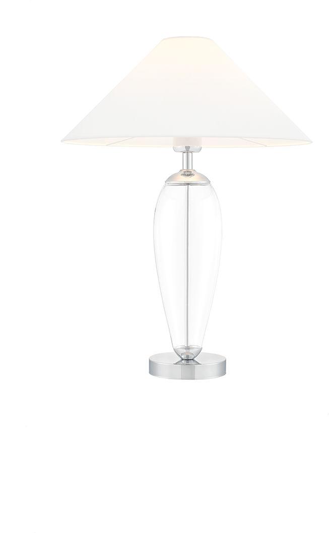 Lampa stołowa Rea 40604101 oprawa przezroczysta / abażur biały Kaspa