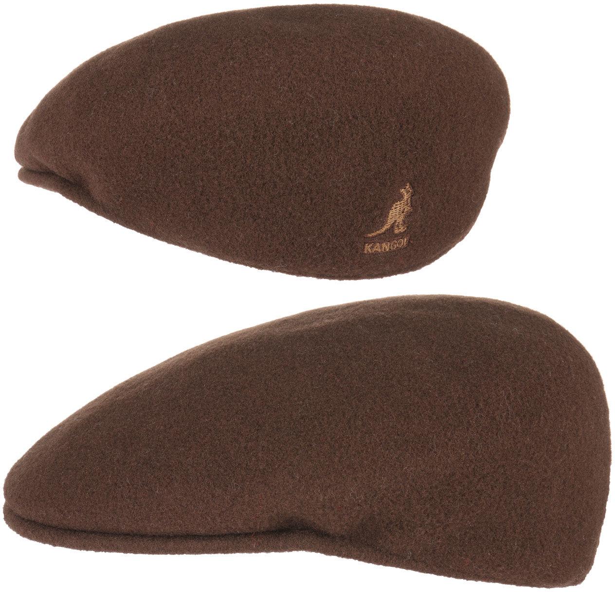 Płaski Kaszkiet 504 by Kangol, brązowy, L (58-59 cm)