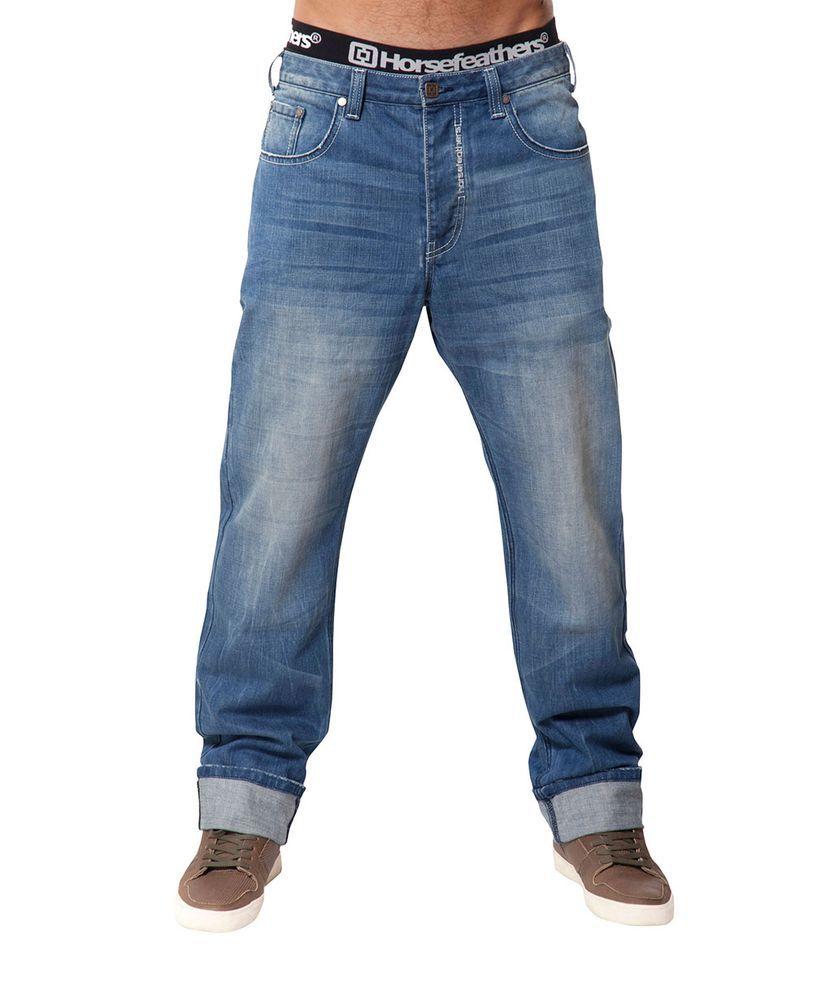 spodnie męskie HORSEFEATHERS GROUND LIGHT BLUE DENIM PANTS