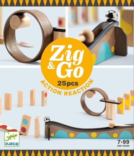 Djeco - tor do Układania Zig&go 25 Elementów