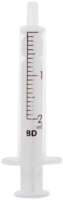 Strzykawka BD-2 ml / op.100 szt Dwuczęściowa, jednorazowa