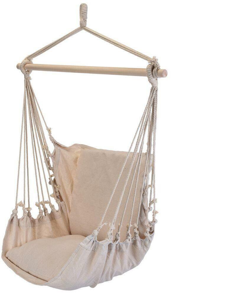 Hamak brazylijski fotel podwieszany huśtawka beżowy